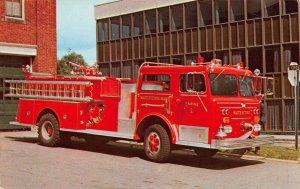 WATERTOWN MA~ENGINE 1-1973 MAXIM-1250 GPM PUMP~AT FIRE HEADQUARTERS POSTCARD