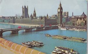 United Kingdom, London, Houses of Parliament, Westminster Bridge, used Postcard