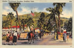 USA Calif. Catalina, Vacationers Paradise, Avalon 1946