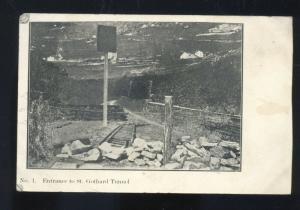 KENMARE NORTH DAKOTA ST. GOTHARD TUNNEL RAILROAD TRAIN VINTAGE POSTCARD ND