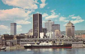 An impressive view of the skyline of downtown Montreal,  Quebec,  Canada,  40...