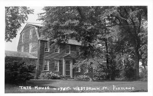 Portland ME The Tate House 1755 Westbrook Street Real Photo Postcard