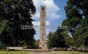 Famous Clock Tower and War Memorial in Raleigh, North Carolina