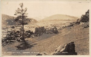 F41/ Craters of Moon Idaho RPPC Postcard c1910 The River of Lava