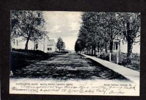 ME Maple St Danforth Maine Postcard UDB Tuck & Sons 1907 Postcard Carte Postale