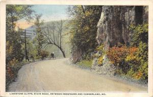 Frostburg to Cumberland Maryland~Horse & Buggy~Dirt Road~Limestone Cliffs~1923