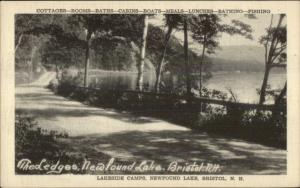 Lakeside Camps Newfound Lake Bristol NH Old Postcard #3