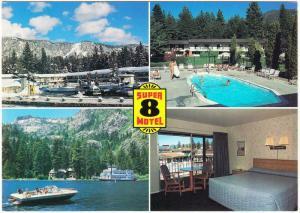 South Lake Tahoe CA Super 8 Motel Multiview Postcard 1997