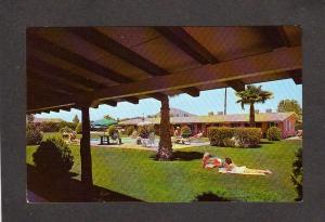 AZ Hitching Post Motel Scottsdale Arizona Postcard Carte Postale Pool Area