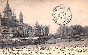 Prias Houdrikkade met Schreierstoren Amsterdam Holland 1904 Missing Stamp