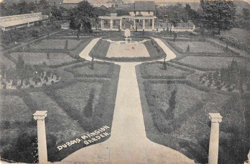 DuBois Pennsylvania DuBois Mansion Garden Scenic View Antique Postcard J70777