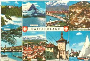 Switzerland, Suisse, Multi view, unused Postcard