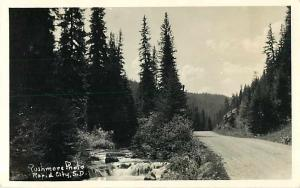 RPPC of a Mountain Country Road near Rapid City SD South Dakota