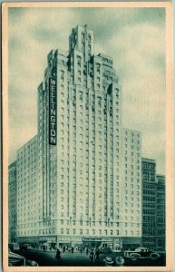 1940s New York City Postcard HOTEL WELLINGTON 7th Avenue at 55th Street - Unused