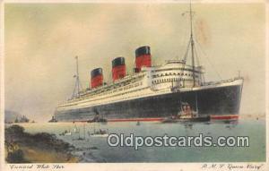 RMS Queen Mary Cunard White Star Ship Postcard Post Card Cunard White Star Po...