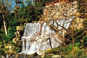 Japan Tokyo Japanese Garden Restaurant Waterfall