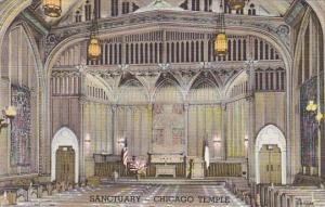 Illinois Chicago Interior Sanctuary First Methodist Temple Curteich