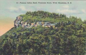 Famous Indian Head Franconia Notech White Mountains New Hampshire Curteich