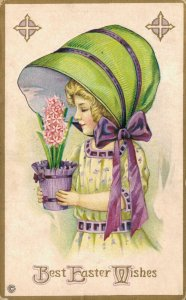 Best Easter Wishes Embossed Lady Big Hat 04.90