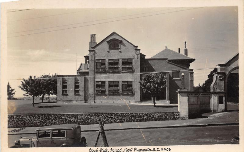 Plymouth New Zealand~Boys' High School Building~Unfinished Left~Vintage Photo