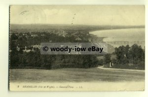 h0858 - Shanklin from Luccombe , Isle of Wight - postcard LL2