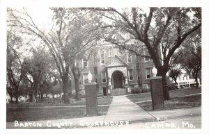 LPSS60 Lamar Missouri Barton County Court House Postcard RPPC