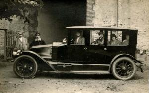 Early Limousine, 1920's.  *RPPC