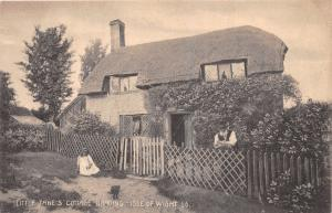 BRADING ISLE OF WIGHT UK LITTLE JANE'S COTTAGE~BEARDED MAN~IDEAL SERIES POSTCARD