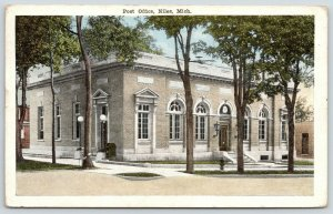 Niles Michigan~Mail Dropbox @ Side of Colonial Post Office~Fire Hydrant~1917 PC