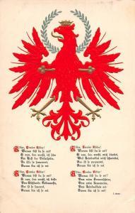 Embossed Austria Tiroler Wappen, Der rote Tiroler Adler! Gedicht von Johann Senn