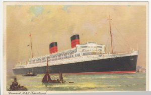 Shipping; Cunard Line RMS Mauretania PPC, Unposted, c 1930's