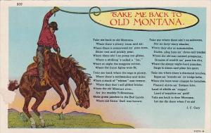 Take Me Back To Old Montana