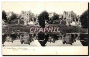 Stereoscopic Card - Grand Duchy of Luxembourg - Beaufort - Le Chateau - Old P...