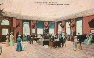 Anheuser Busch St Louis Missouri Beef Advertising C-1905 Postcard Visitors 8584