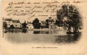 CPA SAMOIS-sur-SEINE - Pont de Bois et la Seine (638855)