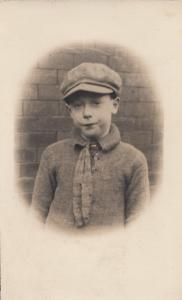 Child Dressed in Grandad Clothes With A Smug Face Old Postcard
