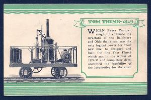 Tom Thumb Engine @ B&O Centenary unused c1927