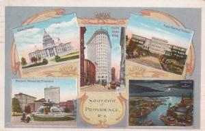 Rhode Island Providence Souvenir With State Capitol Turks Head Building & Mor...