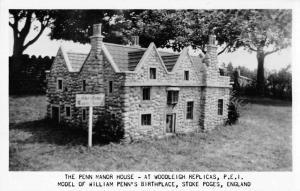 Woodleigh Replicas PEI Canada Penn Manor House Real Photo Postcard JE229139