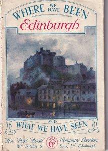 POSTCARD  BOOK, EDINBURGH, Scotland, 1900-1910's; Scenes And Historic Places ...