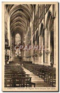 Old Postcard Lisieux Interior L & # 39Eglise Saint Jacques