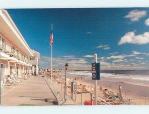 Unused Pre-1980 MOTEL SCENE Wells Beach Maine ME HJ8634