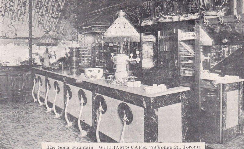 The Soda Fountain, William's Cafe, 179 Yonge St., Toronto, Ontario, 1900-10s