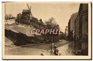 Old Postcard Paris Le Moulin de la Galette Montmartre