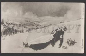 109045 WWI RUSSIAN RED CROSS PROPAGANDA victim girl Malishev