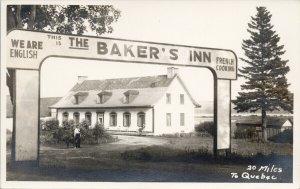 The Baker's Inn Chateau-Richer QC Quebec RPPC Weonit Studio Postcard F57