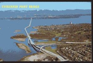 WA SEATTLE Aerial the Evergreen Point Bridge second Lake Washington Bridge - C