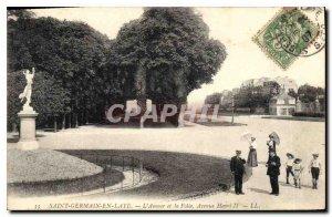 Old Postcard Saint Germain en Laye Love and Madness Avenue Henri II