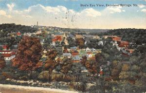 Excelsior Springs Missouri Birdseye View Of City Antique Postcard K51862