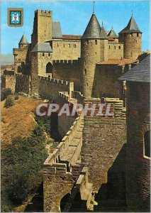 Postcard Modern Medieval Carcassonne Cite Chateau Comtal and Forte Senechal s...